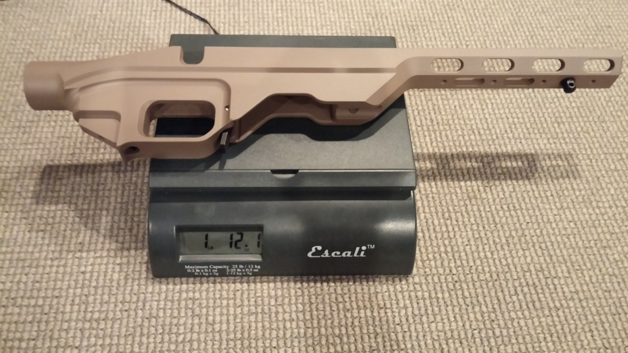 Lightweight: The MDT LSS Chassis Weighs in at 1 lb, 12.1 oz