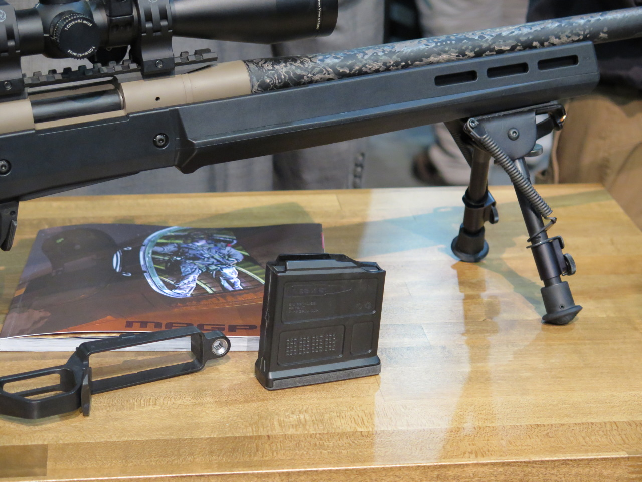 Close-up of the Magpul AICS Polymer Magazine