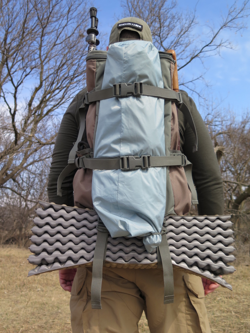 The Umlindi's Compression Straps Work Well for Securing Loads Outside the Pack