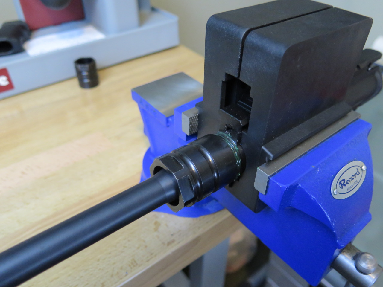 Threading the Barrel Nut onto the Receiver