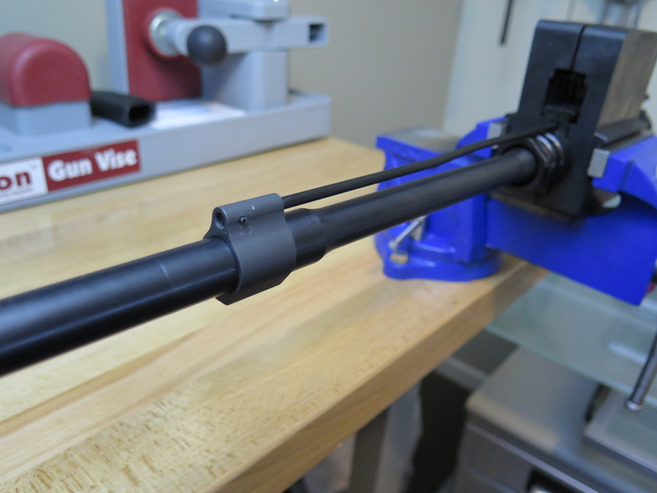 Properly Installed Gas Block and Tube