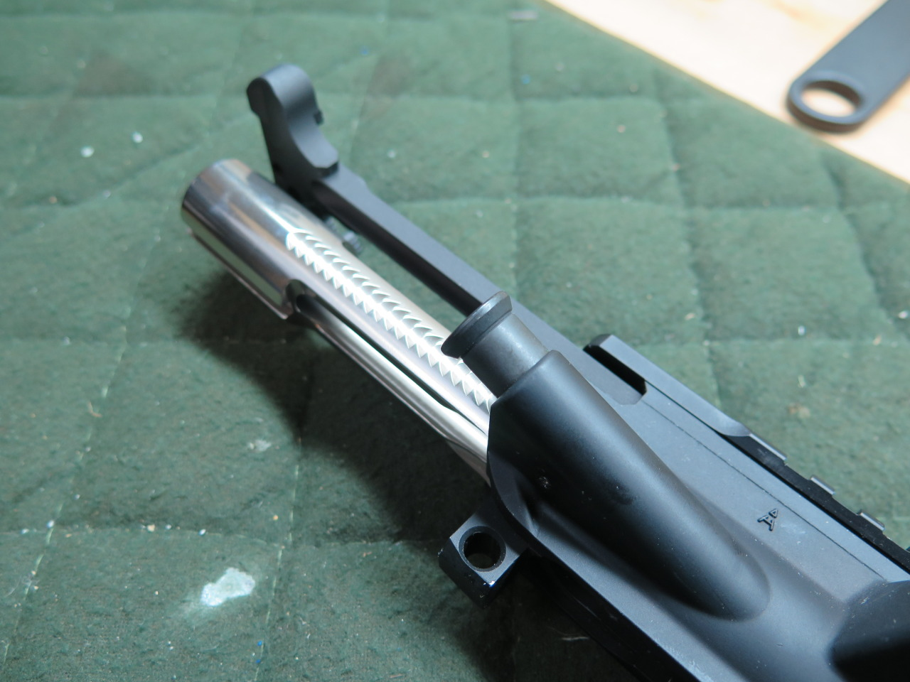 Slide in Your BCG and Charging Handle and You're Done!