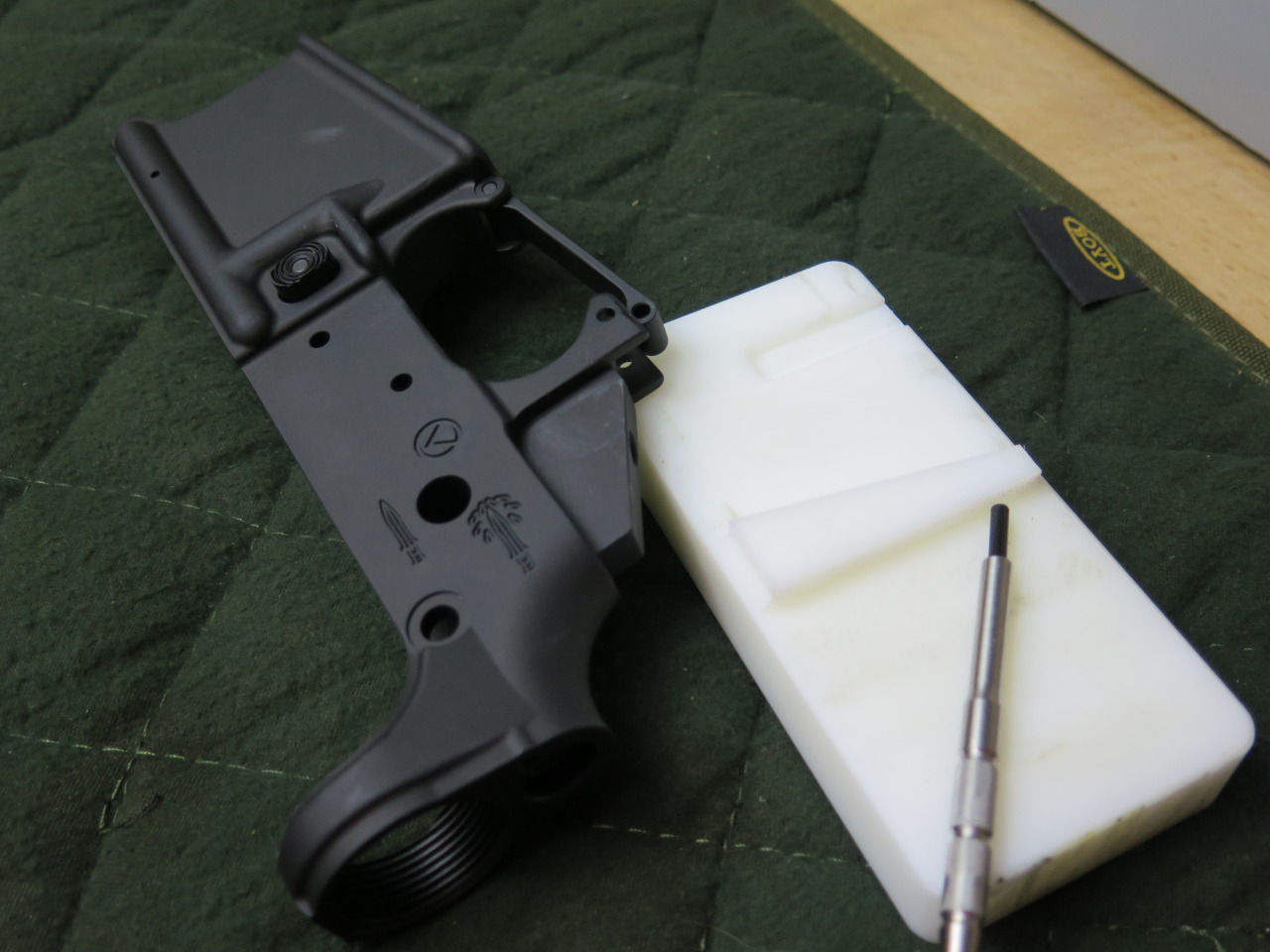 Use the Vise Block to Support the Trigger Guard Tabs