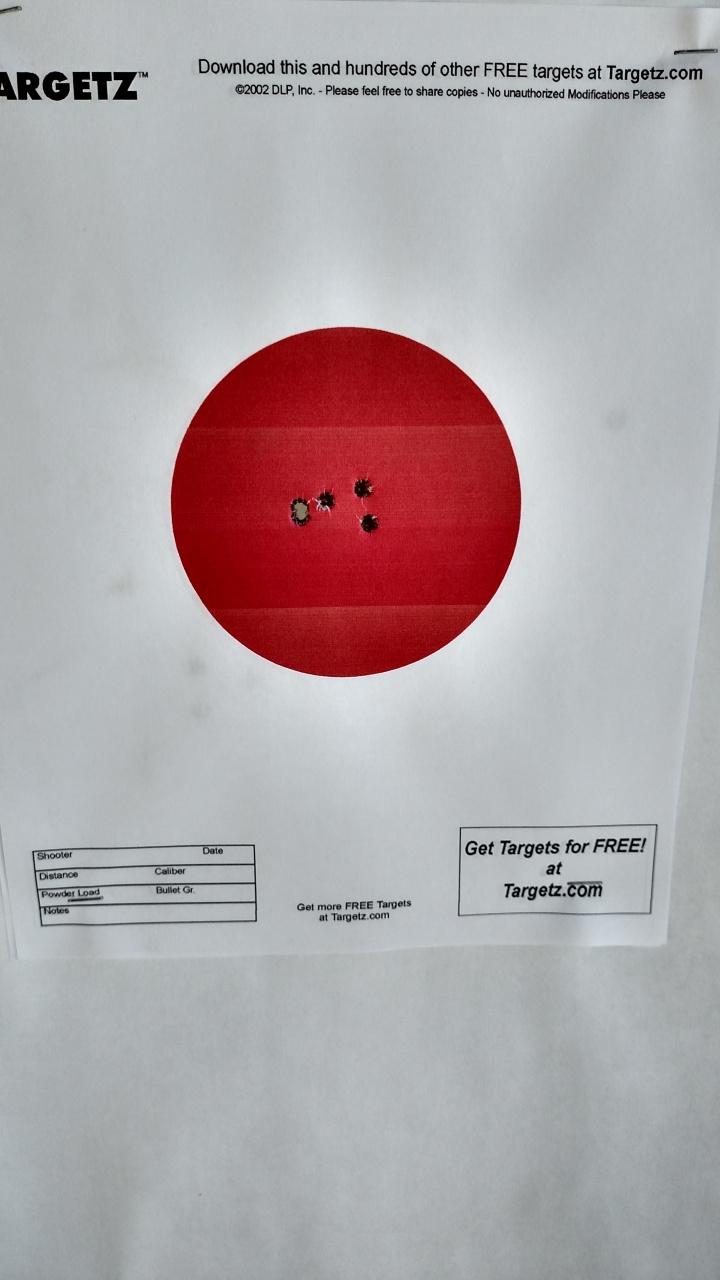 Typical 100 Yard Target
