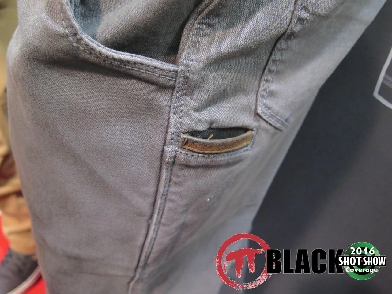 Leather-trimmed Tool Pocket on Delta Stretch Pants